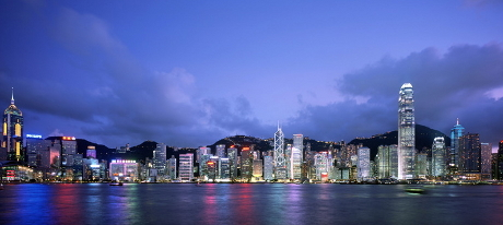 Hong Kong Harbor - Panoramic View