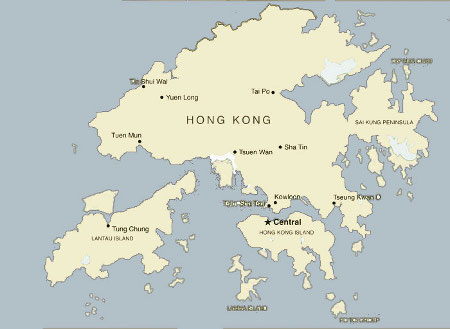 Hong Kong Island Map