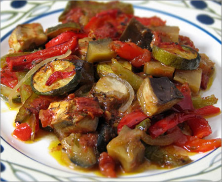 Ratatouille on Plate